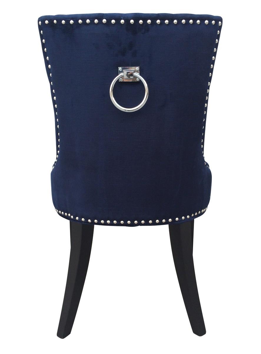 tov furniture uptown navy velvet dining chair