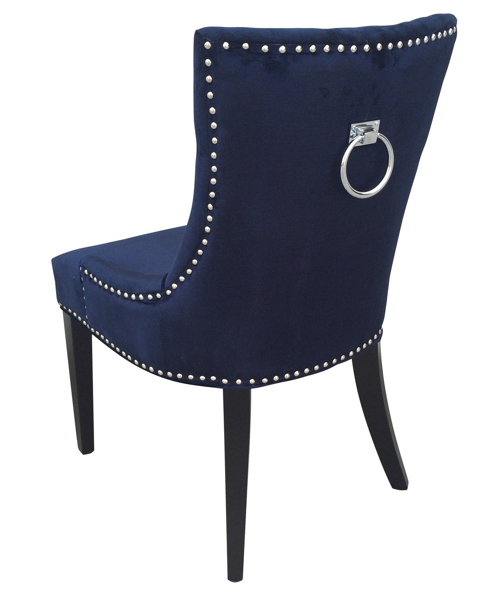 Marvelous TOV Furniture Uptown Navy Velvet Dining Chair