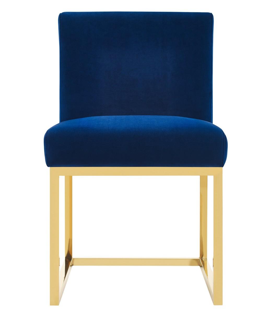 TOV Furniture Haute Navy Velvet Chair