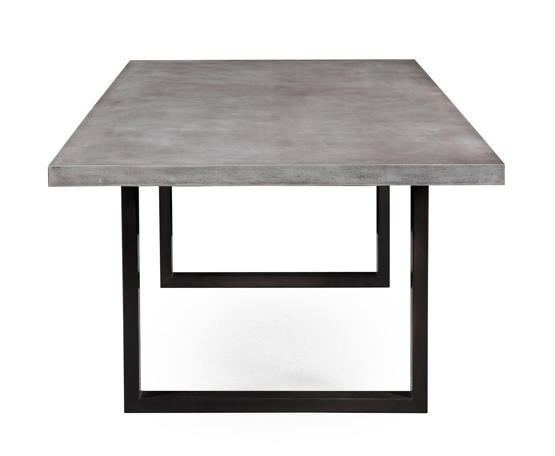 TOV Furniture Edna Concrete Table - Washed Grey
