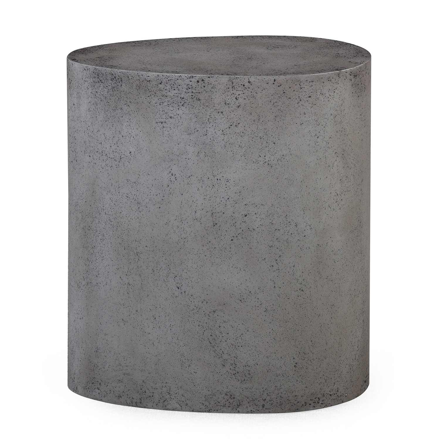 TOV Furniture Everly Oval Stool - Concrete