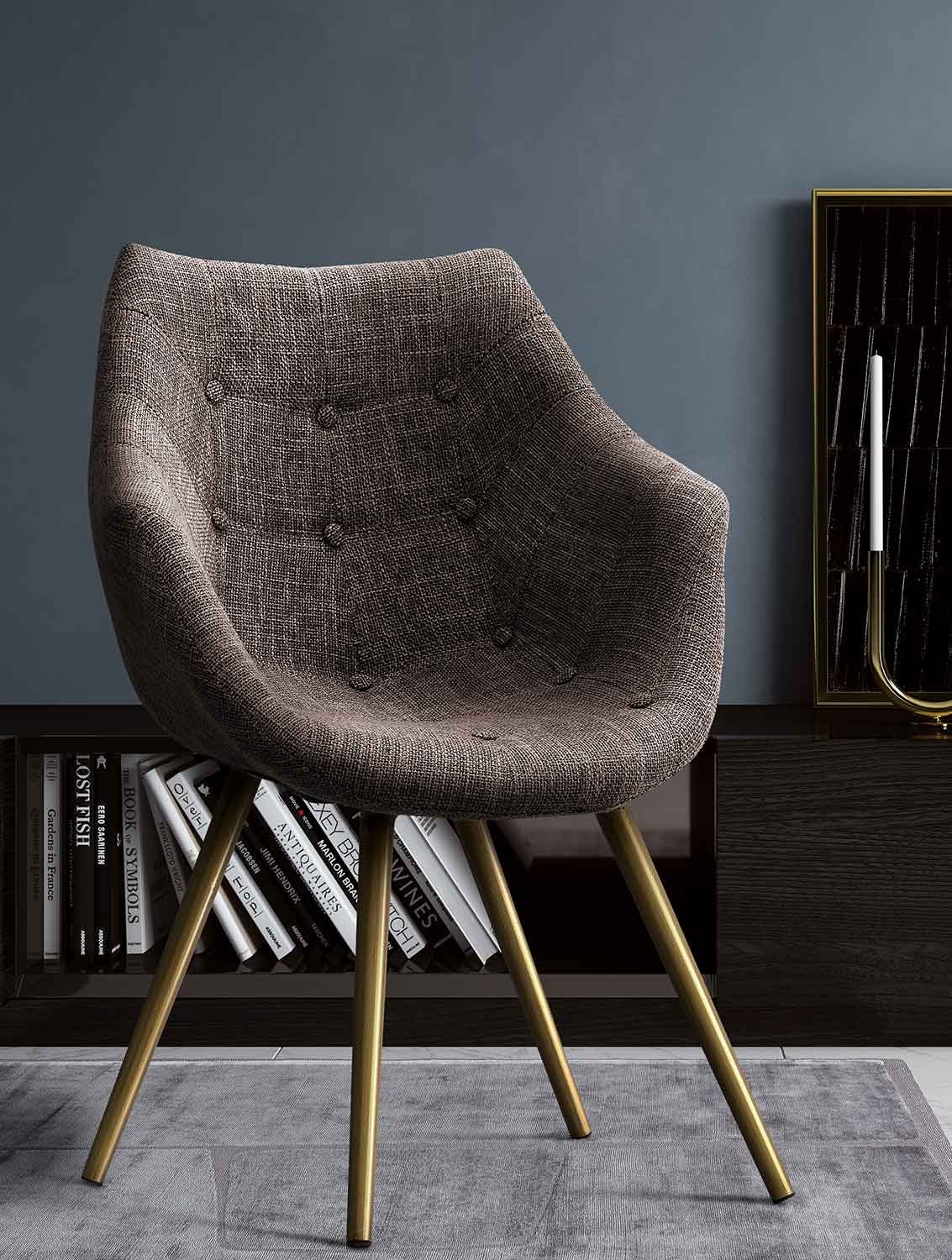 TOV Furniture Finn Tweed Chair - Brown