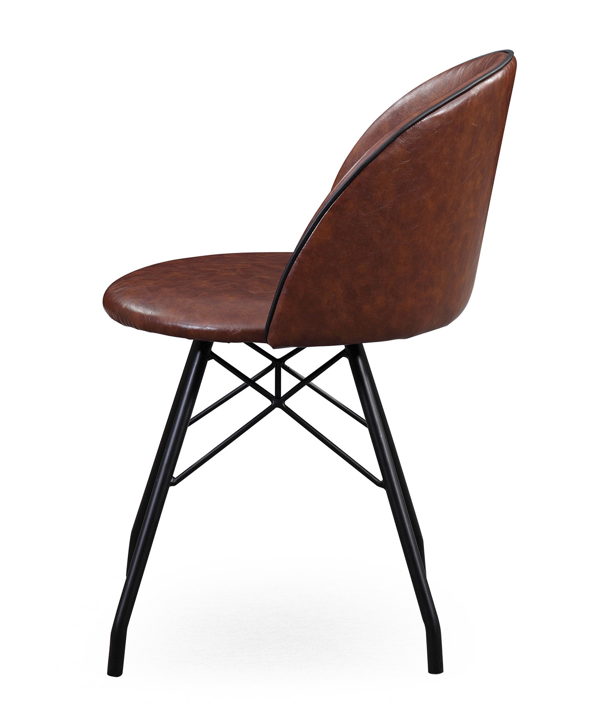 TOV Furniture Branson Swivel Chair - Dark Brown/Black - Set of 2