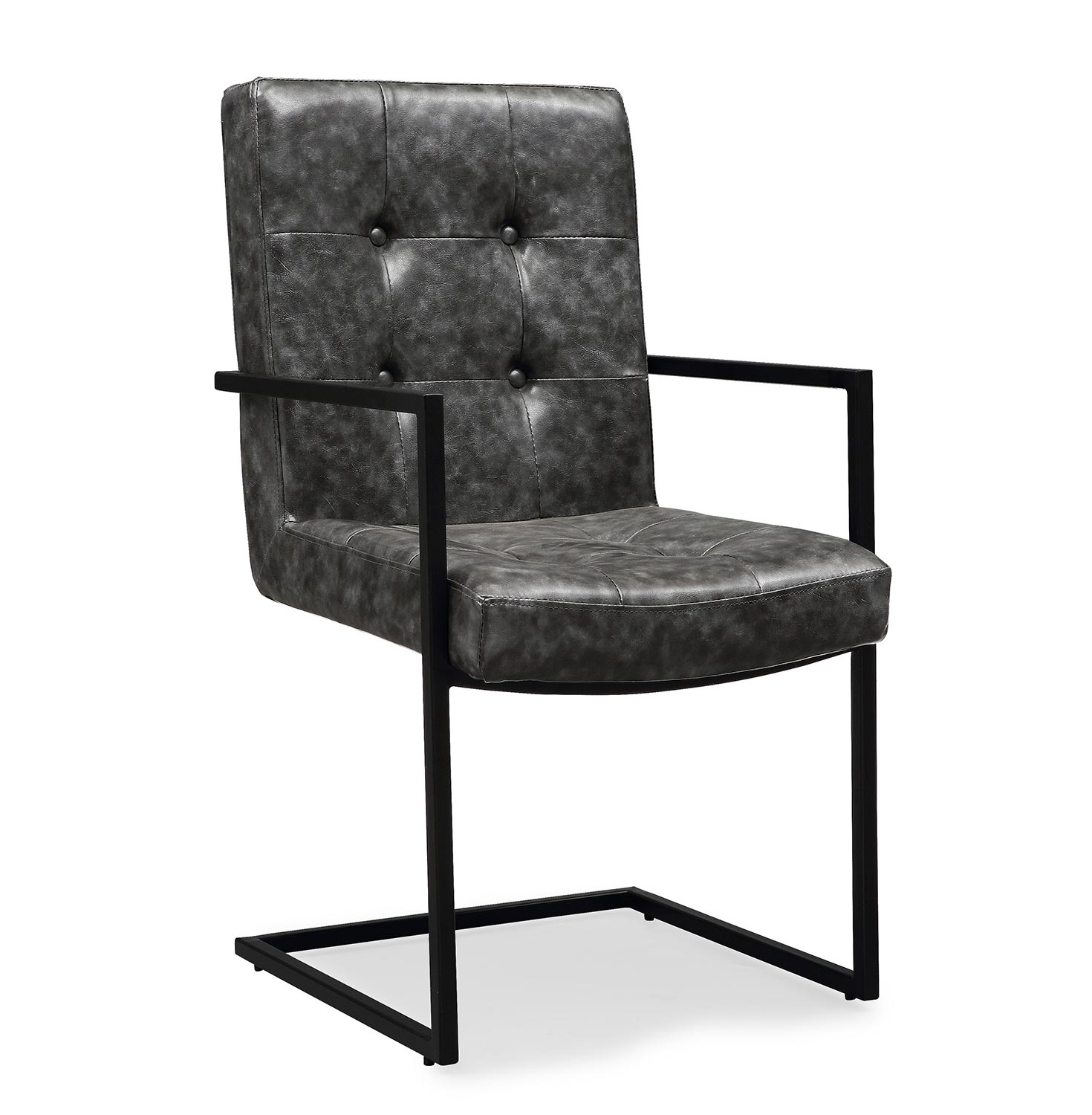 TOV Furniture Stanley Arm Chair - Grey/Black
