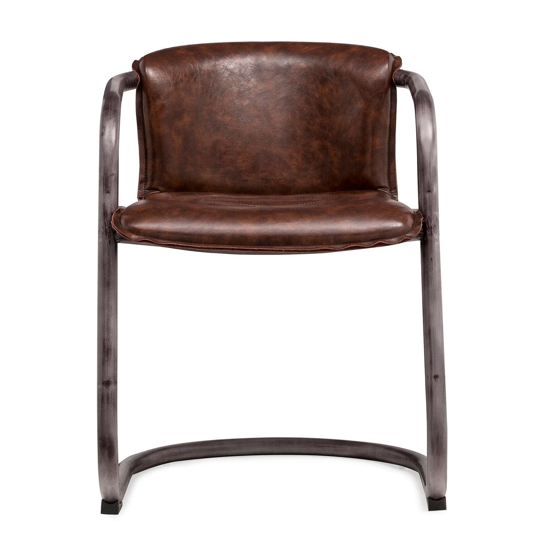 TOV Furniture Colt Chair - Silver/Brown