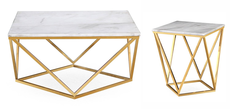 TOV Furniture Leopold Occasional Table Set - White