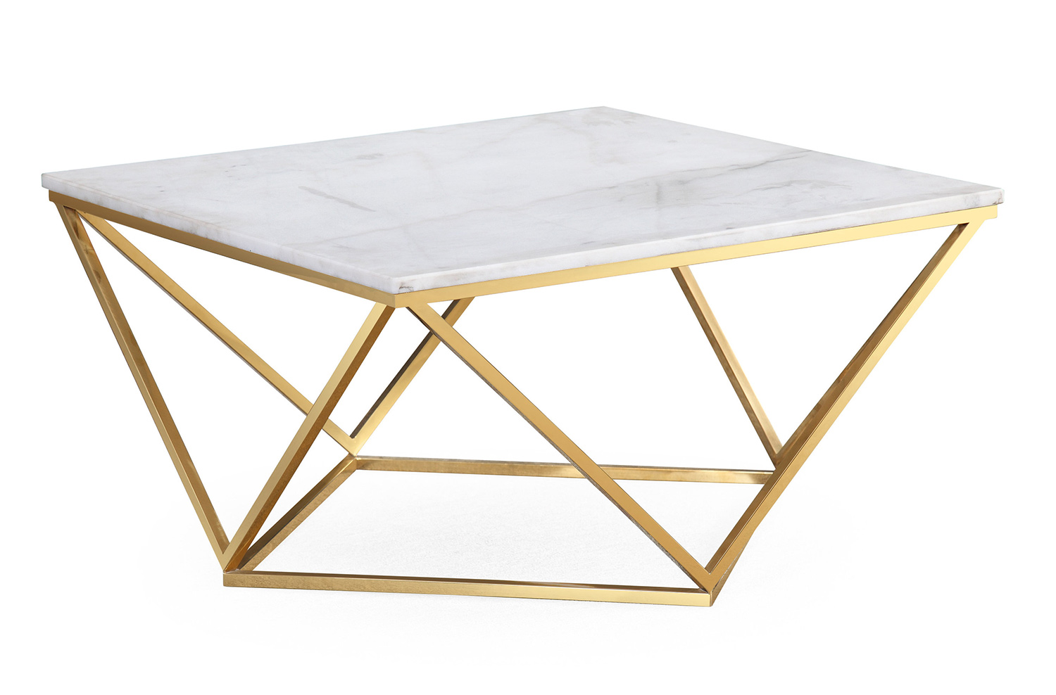 TOV Furniture Leopold Cocktail Table - White/Gold