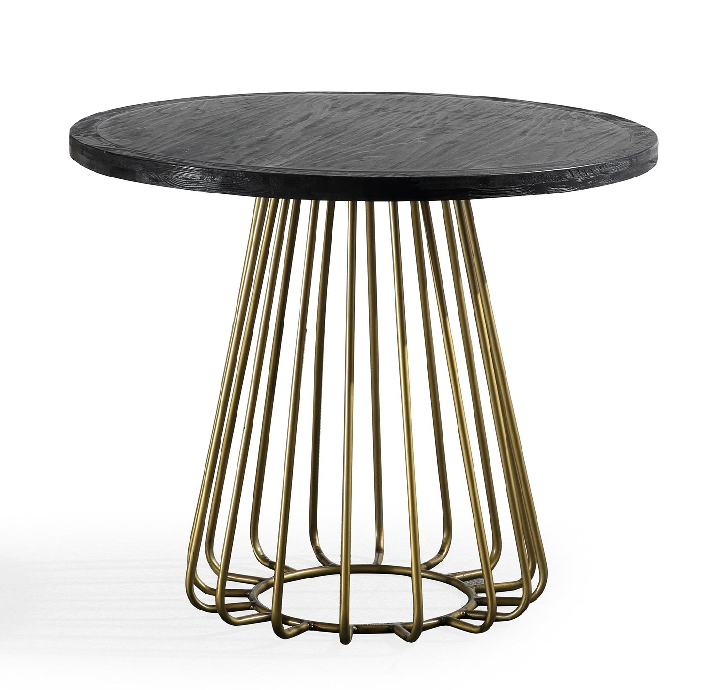 TOV Furniture Madrid Pine Table - Matte Black