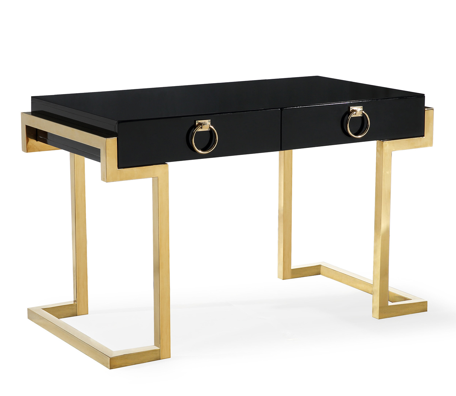 TOV Furniture Majesty Desk - Black/Gold