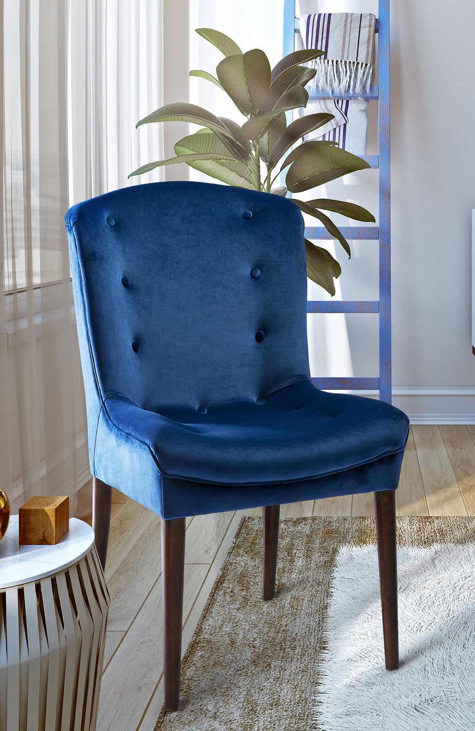 TOV Furniture Victor Chair - Navy - Set of 2