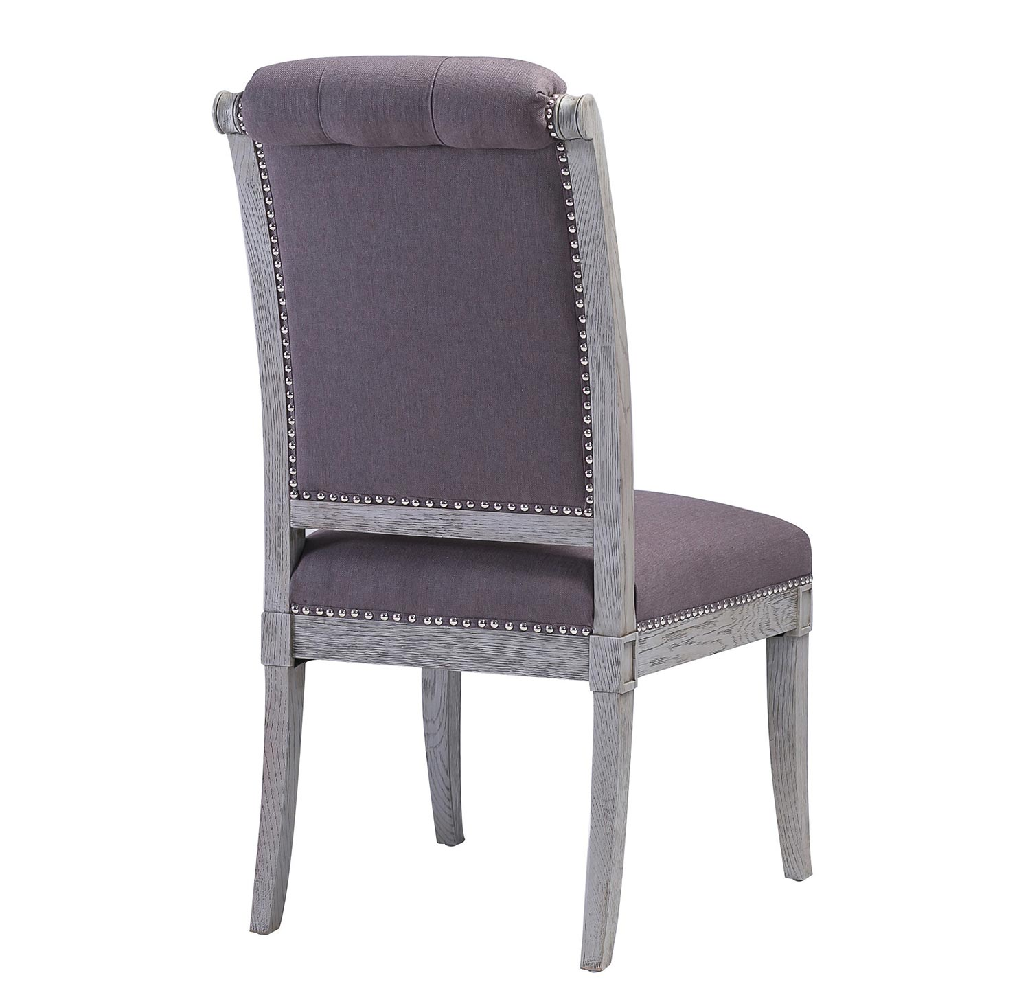TOV Furniture Addington Grey Chair - Grey - Set of 2