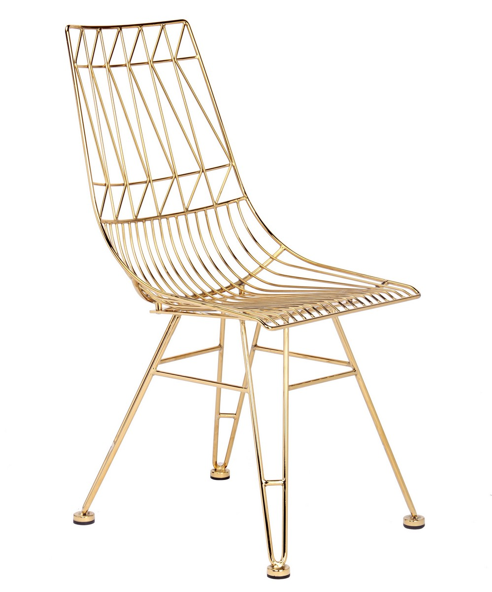 TOV Furniture Allure Steel Chair - Gold