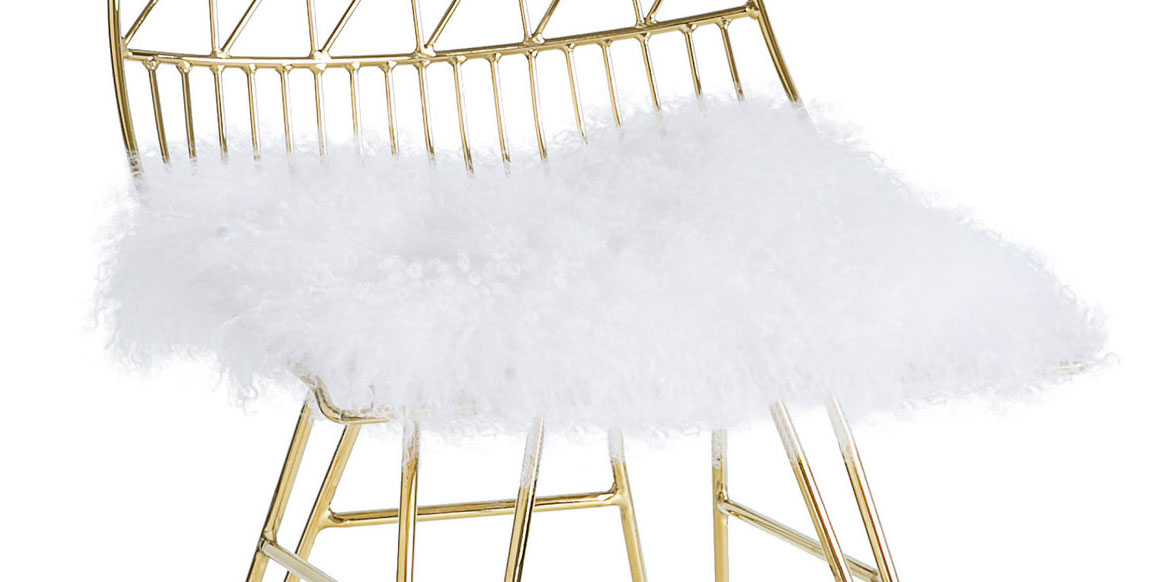 TOV Furniture Allure Sheepskin Cushion - White