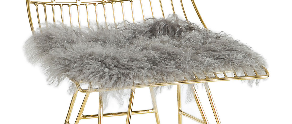 TOV Furniture Allure Sheepskin Cushion - Grey