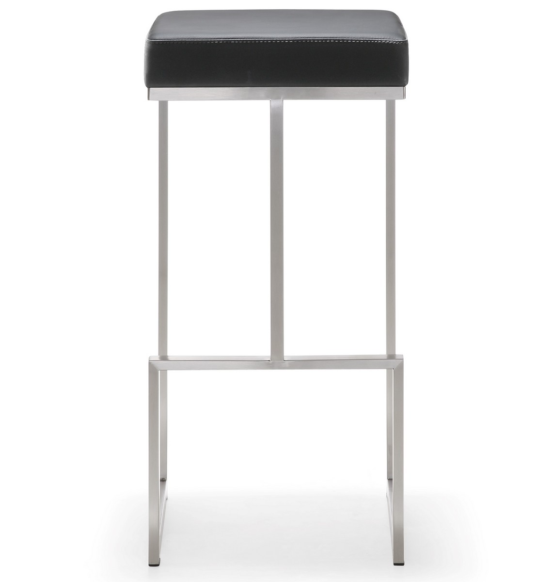 TOV Furniture Ferrara Black Stainless Steel Barstool - Set of 2