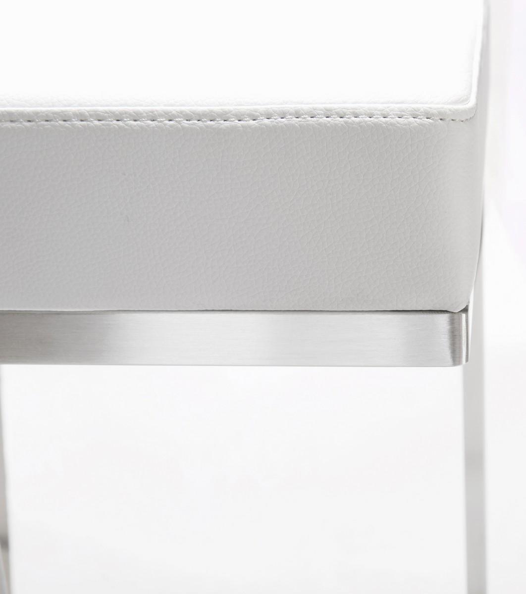 TOV Furniture Ferrara White Stainless Steel Barstool - Set of 2