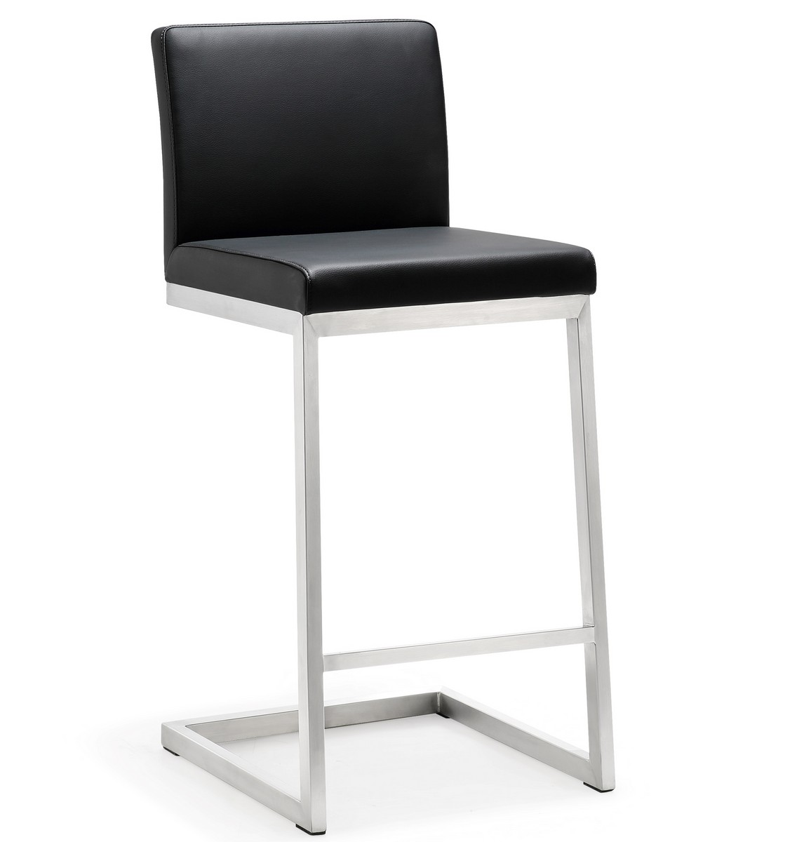 TOV Furniture Parma Black Stainless Steel Counter Stool - Set of 2