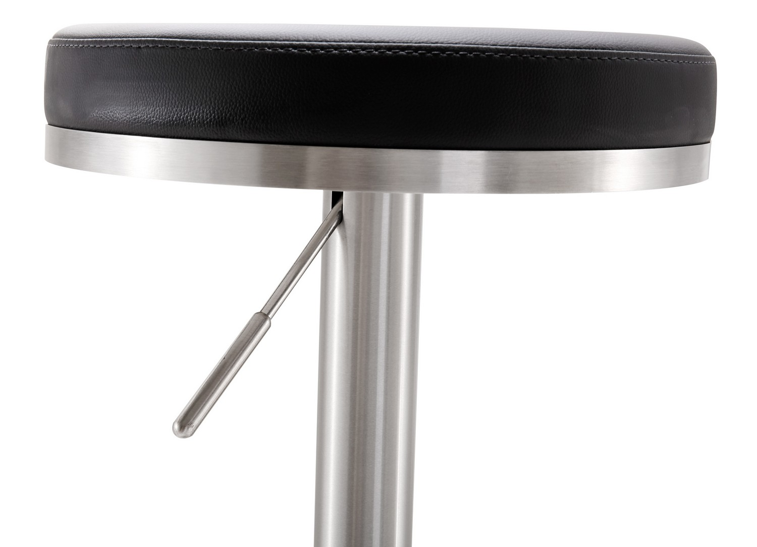 TOV Furniture Fano Black Stainless Steel Adjustable Barstool