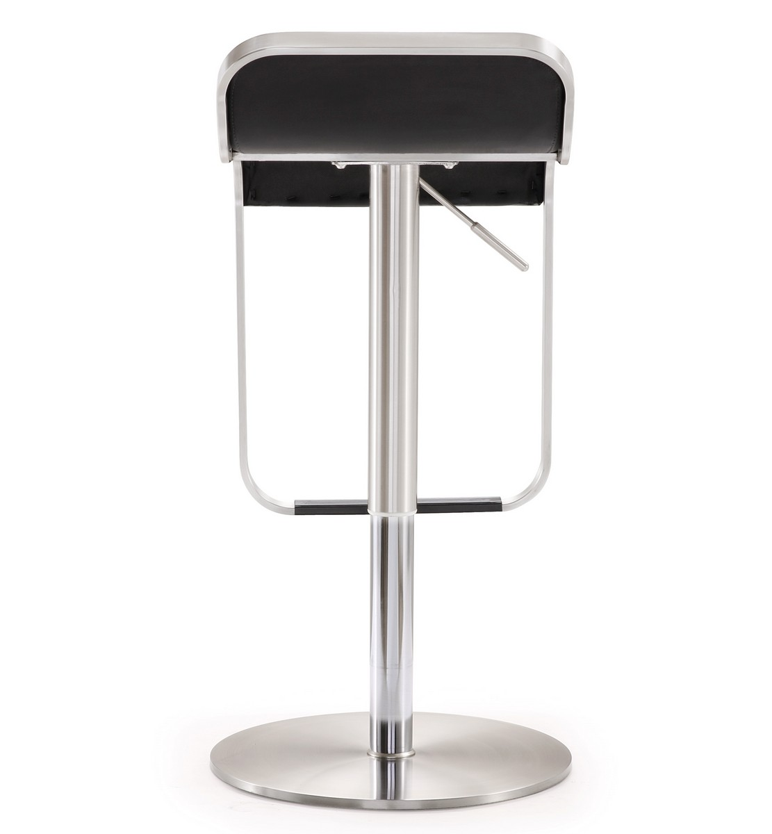 TOV Furniture Napoli Black Stainless Steel Adjustable Barstool