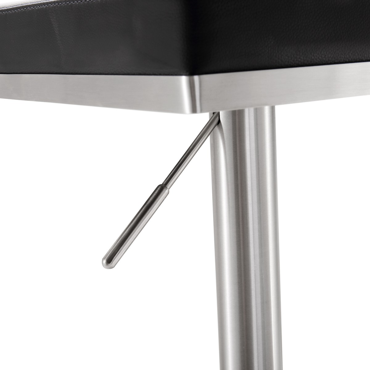 TOV Furniture Bari Black Stainless Steel Adjustable Barstool