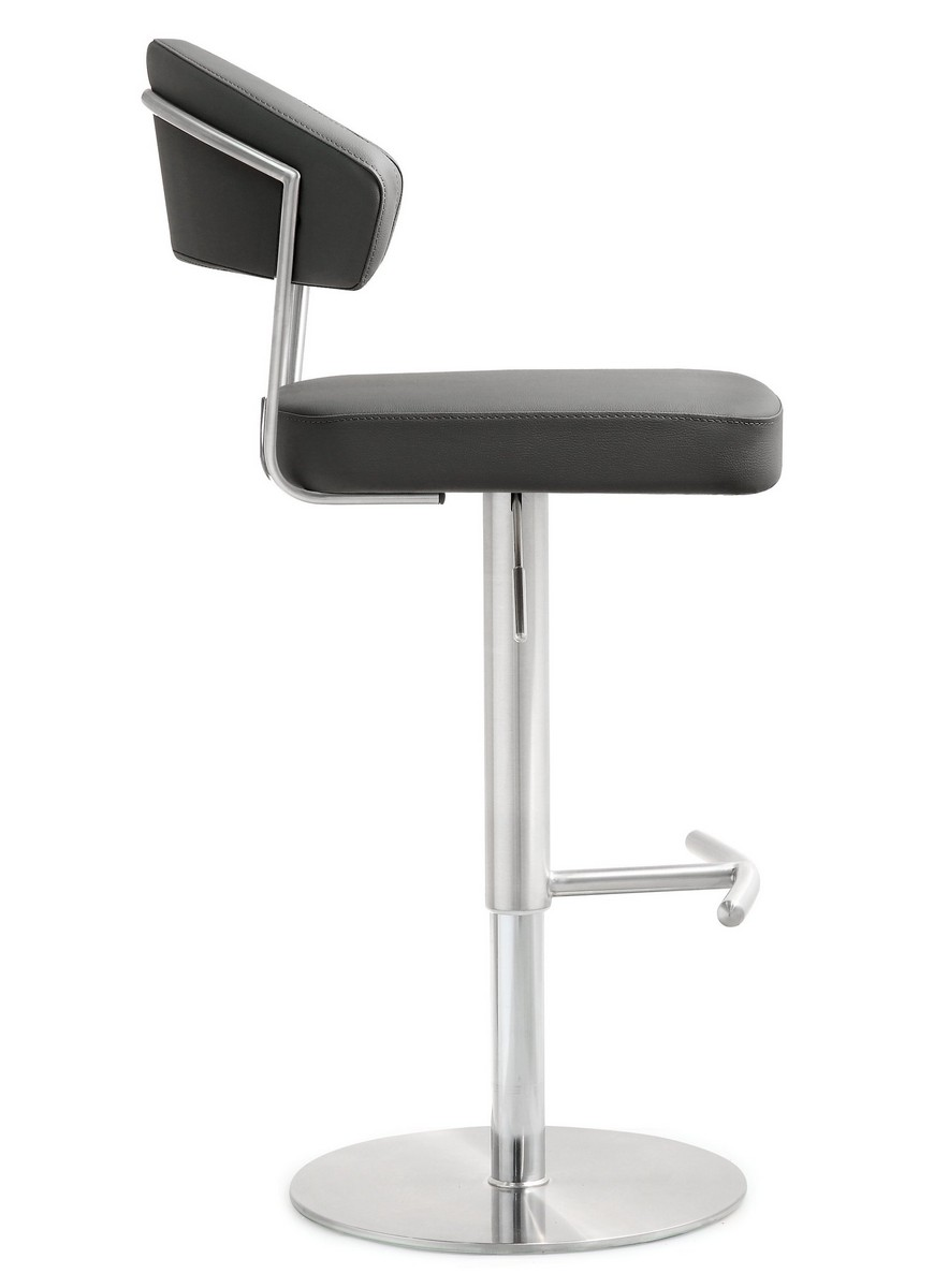 TOV Furniture Cosmo Grey Stainless Steel Barstool