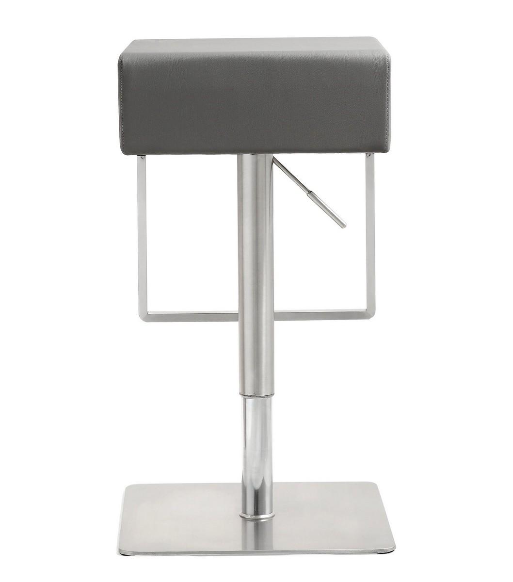 TOV Furniture Seville Grey Stainless Steel Barstool