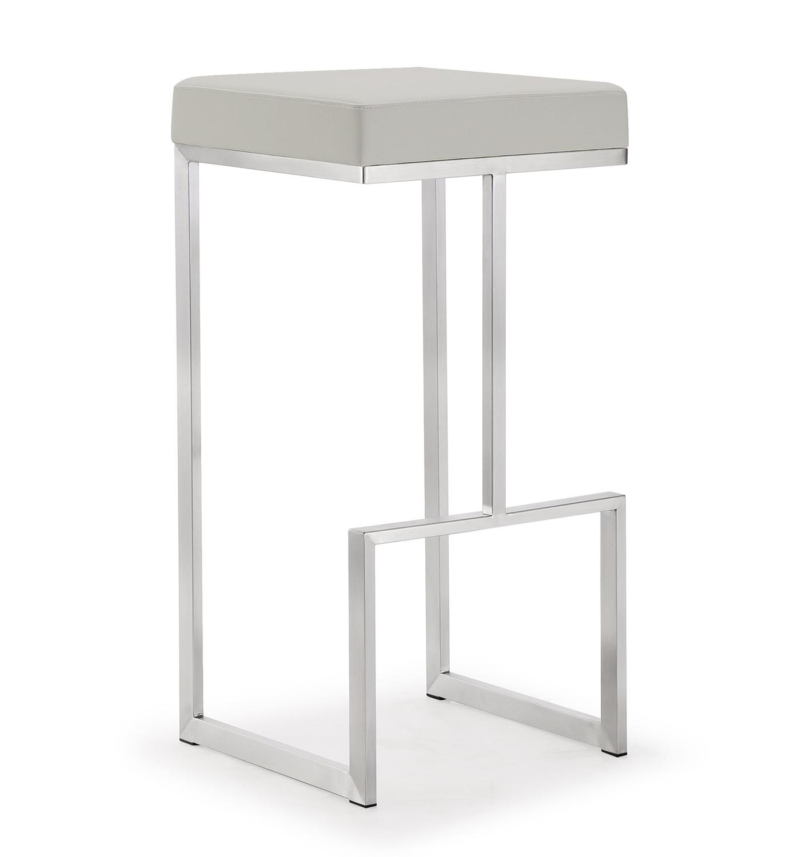TOV Furniture Ferrara Steel Barstool - Grey - Set of 2