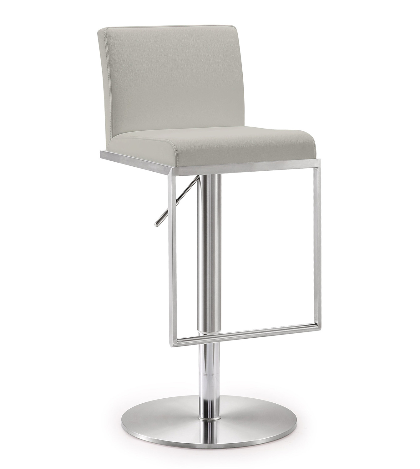 TOV Furniture Amalfi Adjustable Barstool - Grey