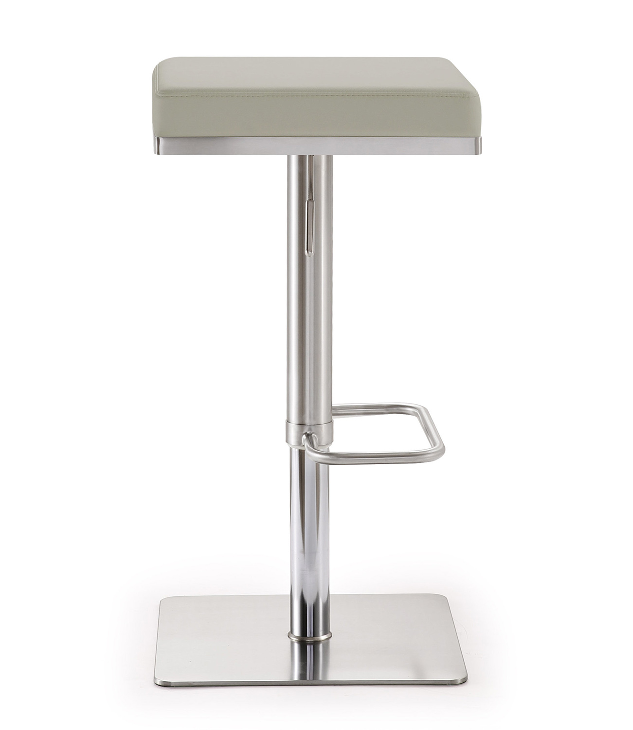 TOV Furniture Bari Adjustable Barstool - Light Grey