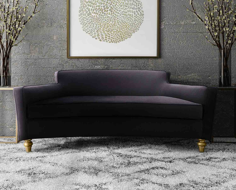 TOV Furniture Oslo Sofa - Black