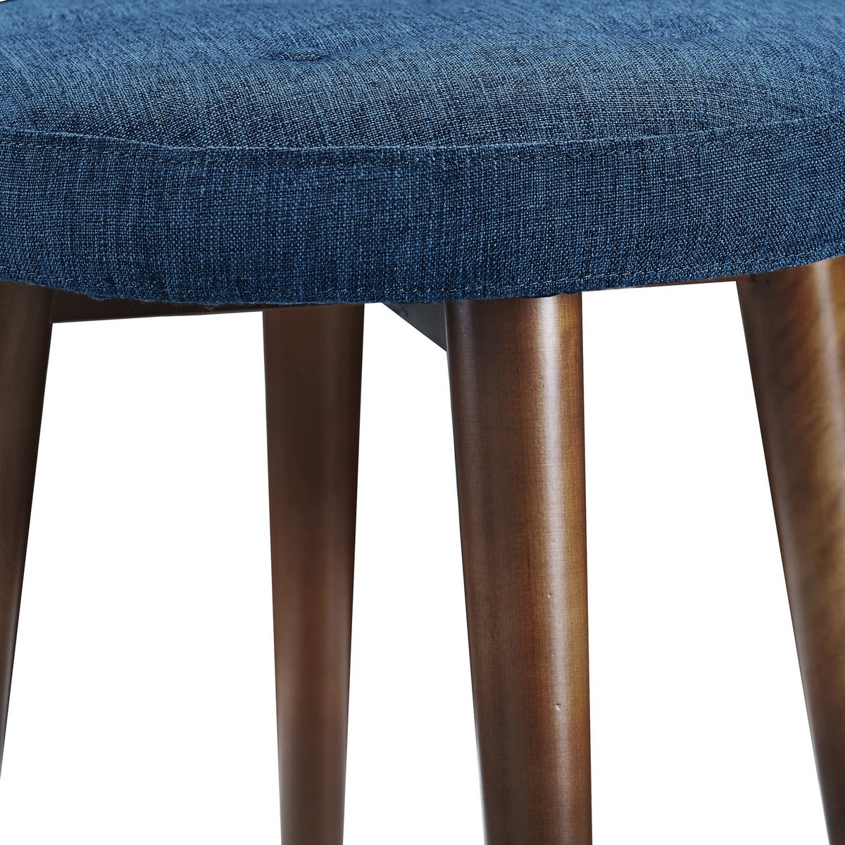 TOV Furniture Malmo Blue Linen Stool