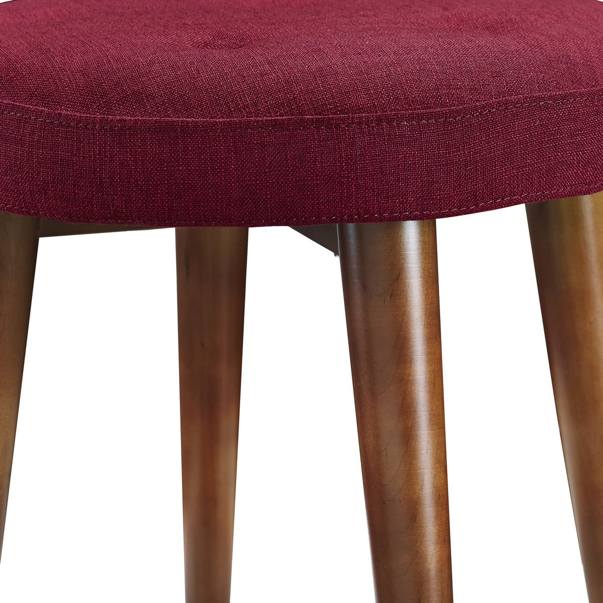 TOV Furniture Malmo Red Linen Stool