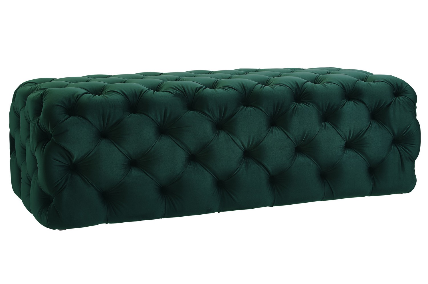 Tov Furniture Kaylee Jumbo Green Velvet Ottoman O66 At