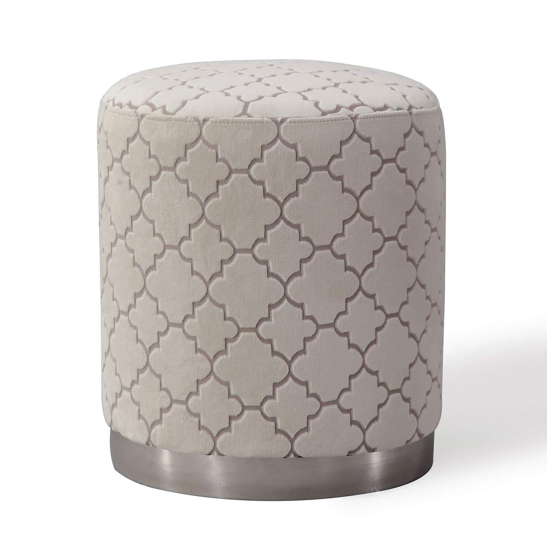 TOV Furniture Opal Morrocan Ottoman - Cream
