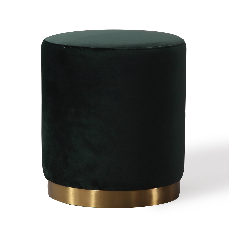 TOV Furniture Opal Ottoman - Green