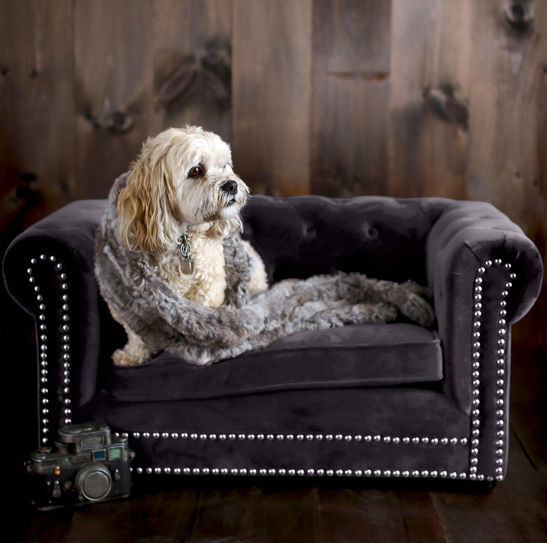 TOV Furniture Husky Pet Bed - Grey