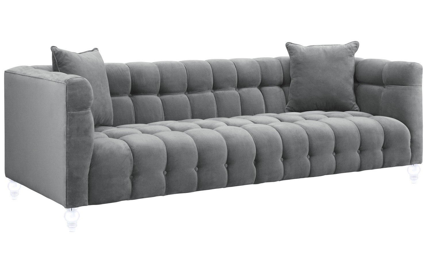 TOV Furniture Bea Grey Velvet Sofa S100 at Homelement