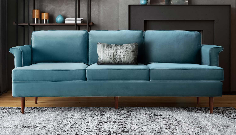 TOV Furniture Porter Sofa - Blue