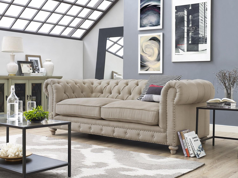 tov furniture oxford beige linen sofa s19 at homelement