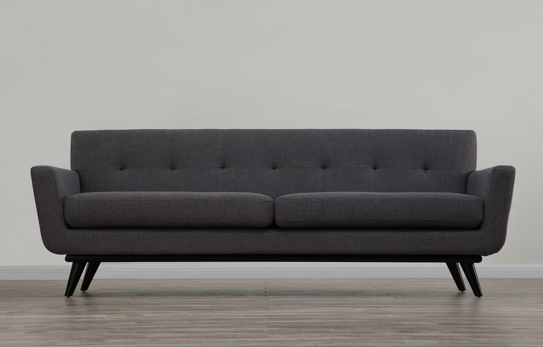 TOV Furniture James Grey Linen Sofa