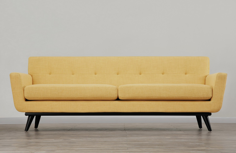 TOV Furniture James Mustard Yellow Linen Sofa
