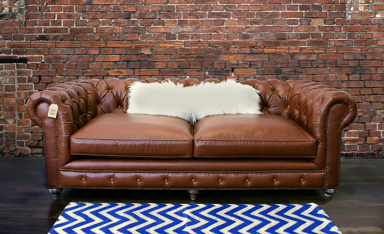 Tov Furniture Durango Antique Brown Leather Sofa