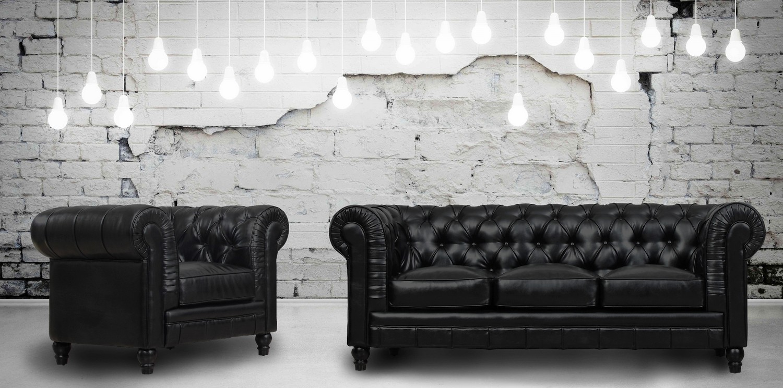 TOV Furniture Zahara Black Leather Living Room Set S24-B-SET at ...