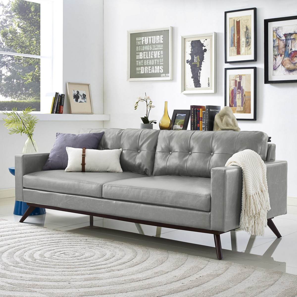 Attrayant TOV Furniture Blake Antique Grey Sofa