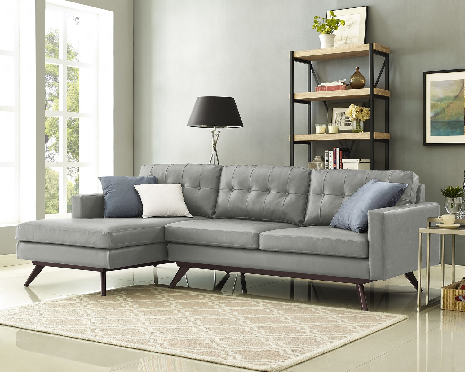 TOV Furniture Blake Antique Grey LAF Sectional