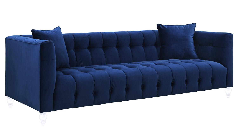 TOV Furniture Bea Navy Velvet Sofa