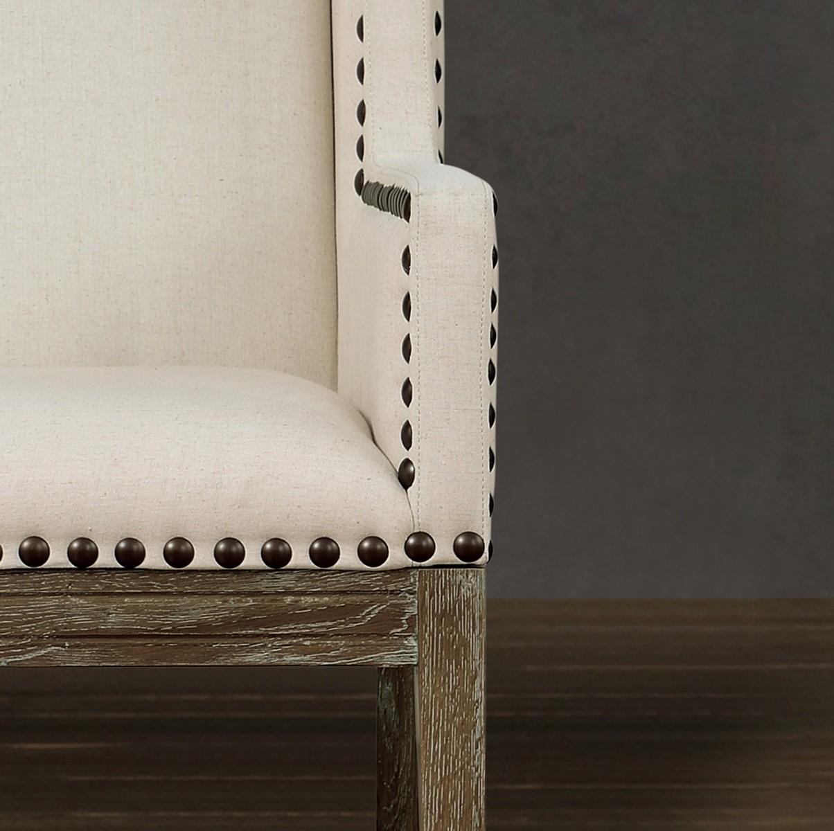 TOV Furniture Tribeca Beige Linen Chair