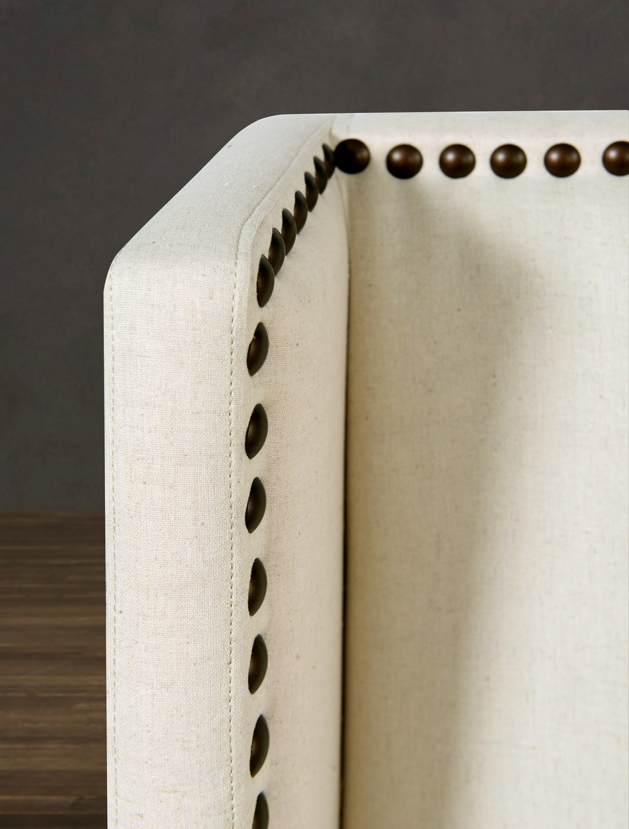 TOV Furniture Tribeca Beige Linen Chair