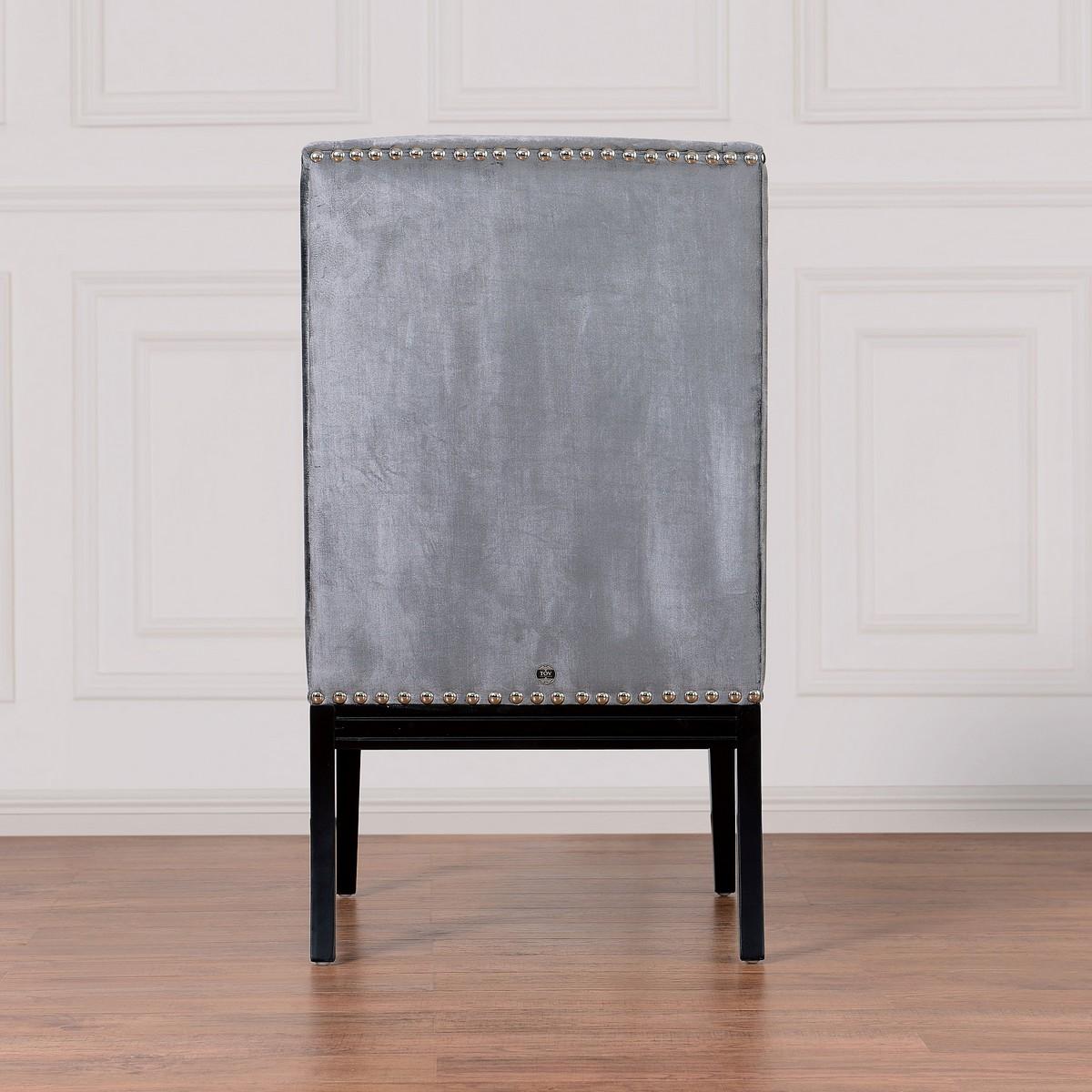 TOV Furniture Tribeca Grey Velvet Chair