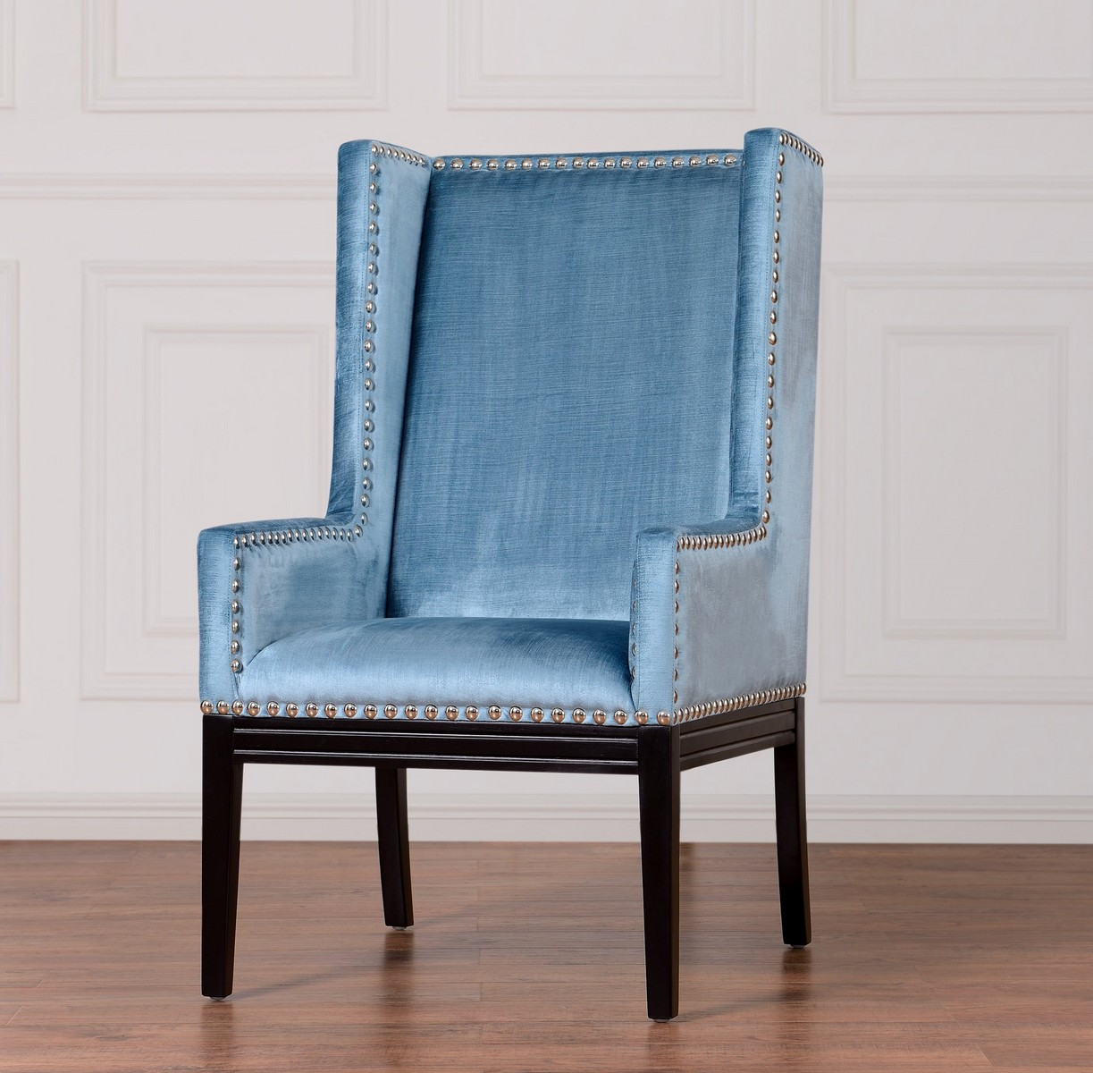 TOV Furniture Tribeca Blue Velvet Chair